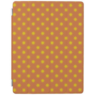 Gold Star with Orange Background iPad Cover