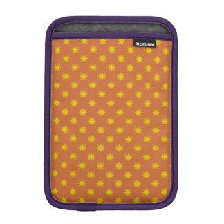 Gold Star with Orange Background iPad Mini Sleeve