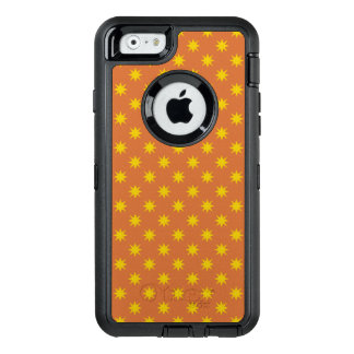 Gold Star with Orange Background OtterBox Defender iPhone Case