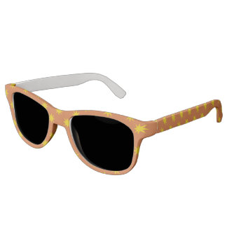 Gold Star with Orange Background Sunglasses