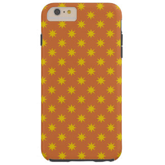Gold Star with Orange Background Tough iPhone 6 Plus Case