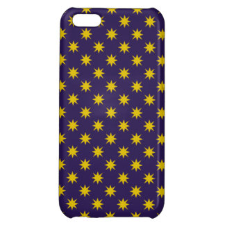 Gold Star with Royal Purple Background Case For iPhone 5C