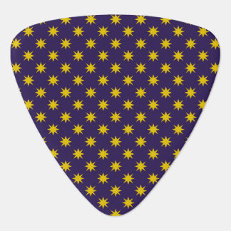Gold Star with Royal Purple Background Guitar Pick