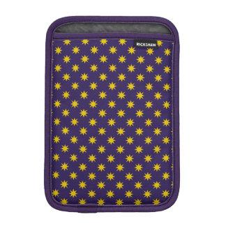 Gold Star with Royal Purple Background iPad Mini Sleeve