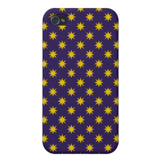 Gold Star with Royal Purple Background iPhone 4 Cover