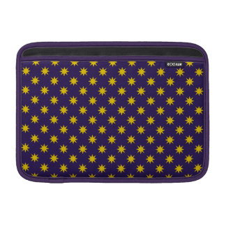 Gold Star with Royal Purple Background Sleeve For MacBook Air
