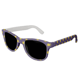 Gold Star with Royal Purple Background Sunglasses