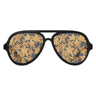 Gold Stars Aviator Sunglasses