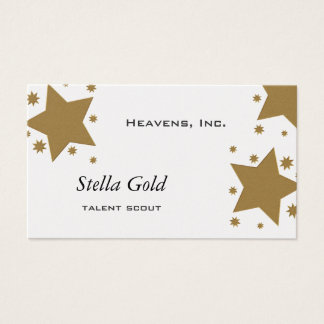 Gold Stars Business Card