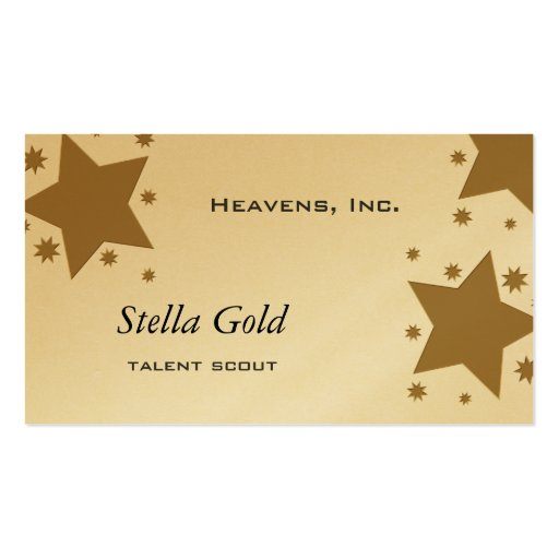 Gold Stars Business Cards