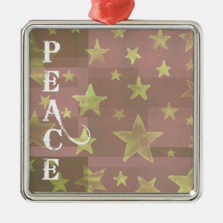 Gold Stars Christmas Peace Decoration Christmas Ornament