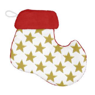 Gold Stars Elf Christmas Stocking