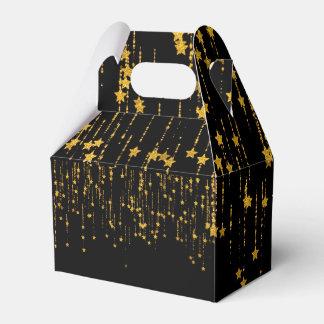 Gold Stars - Gable - Favor box