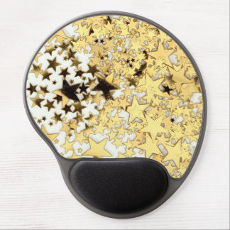 Gold stars gel mouse pad