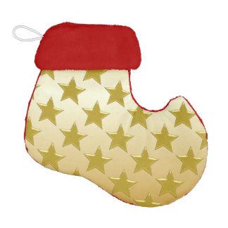 Gold Stars Gold Coloured Elf Christmas Stocking
