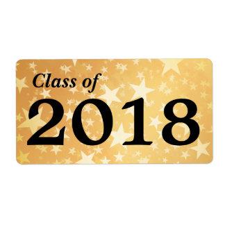 Gold Stars Graduate Class Of 2018 | Water Bottle