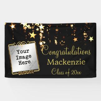 Gold Stars Graduation Sign w/ Photo
