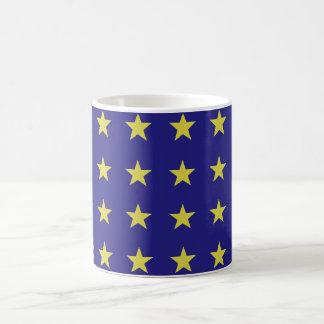 Gold Stars on Blue Background EU Colors Pattern Coffee Mug