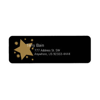 Gold Stars Return Address Label