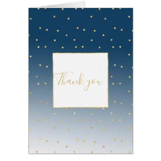 Gold Stars Sky Shine Bright Card