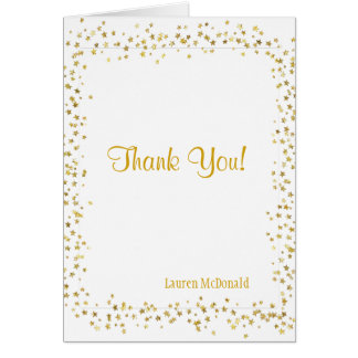 Gold Stars Thank You Note Card