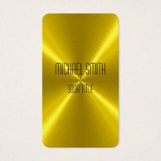 Gold Steel Metal Business Card