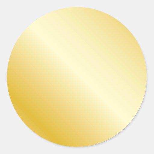 Gold Round Sticker