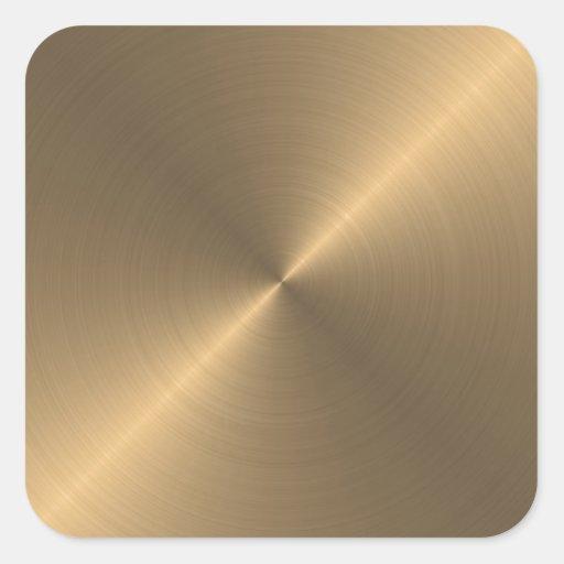 Gold Square Sticker