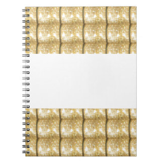 GOLD Strip BLANK Template easy write GREETING TEXT Note Books