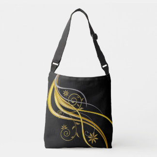 Gold  Stripes Crossbody Bag