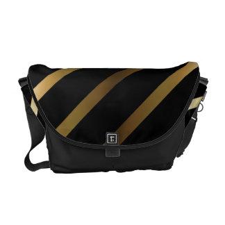 Gold Stripes Rickshaw Messenger Bag