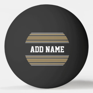 Gold Stripes Sports Jersey Custom Name Ping Pong Ball