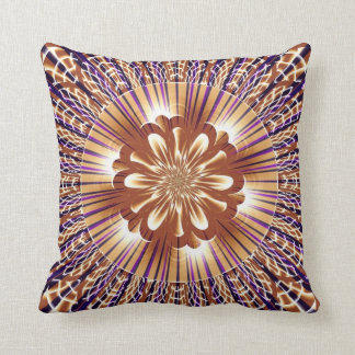 Gold Stripes with Flower American MoJo Pillow