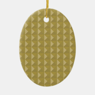 Gold Studded Pyramid Ceramic Oval Decoration