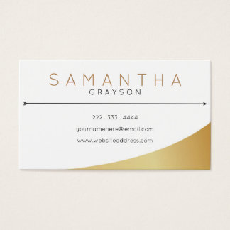 Gold Stylist Business Card - Modern - Simple  Chic