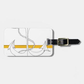 gold sub lieutenant, tony fernandes luggage tag