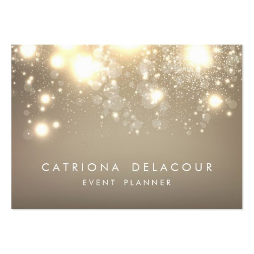 Gold Subtle Glitter Bokeh Business Card | Chubby