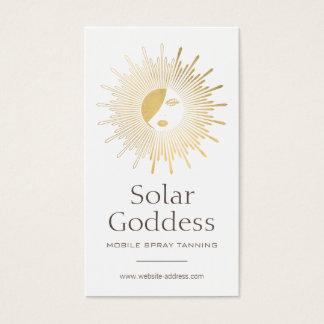 Gold Sun Goddess Girl Spray Tanning Salon Logo I