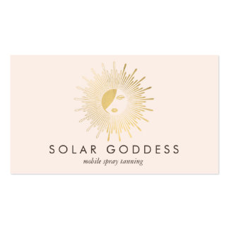 Gold Sun Goddess Girl Spray Tanning Salon Pink Pack Of Standard Business Cards
