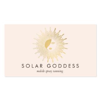 Gold Sun Goddess Girl Spray Tanning Salon Pink Pack Of Standard Business Cards