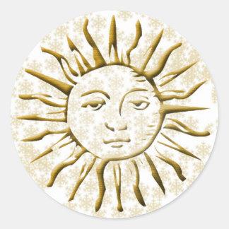 Gold Sun & Snow Flakes - Sticker