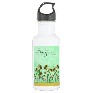 Gold Sunflower Yellow Country Prims Summer Autumn 532 Ml Water Bottle