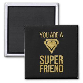 Gold Superhero Friend Valentine Magnet