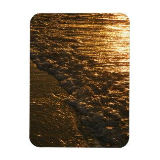 Gold Surf Magnet, Sunrise Series Rectangular Photo Magnet
