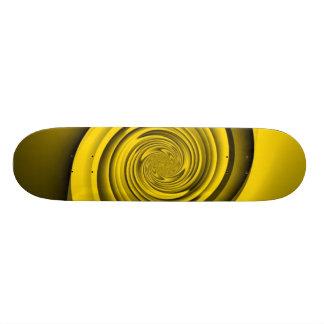 Gold Swirl 21.3 Cm Mini Skateboard Deck