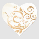 Gold Swirl Sticker/Seal