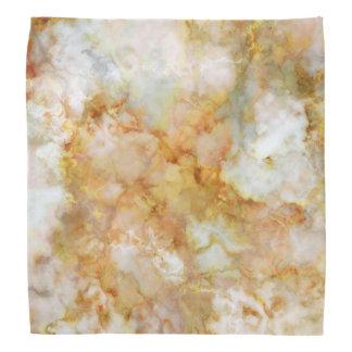 Gold Swirled Marble Bandanas