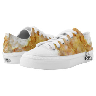 Gold Swirled Marble Low Tops