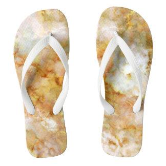Gold Swirled Marble Thongs