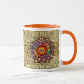 Gold Symbolic Sun Mandala Mug
